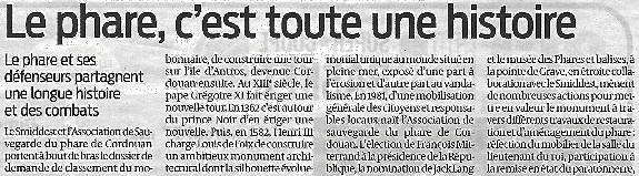 Sud Ouest 26 avril 2016